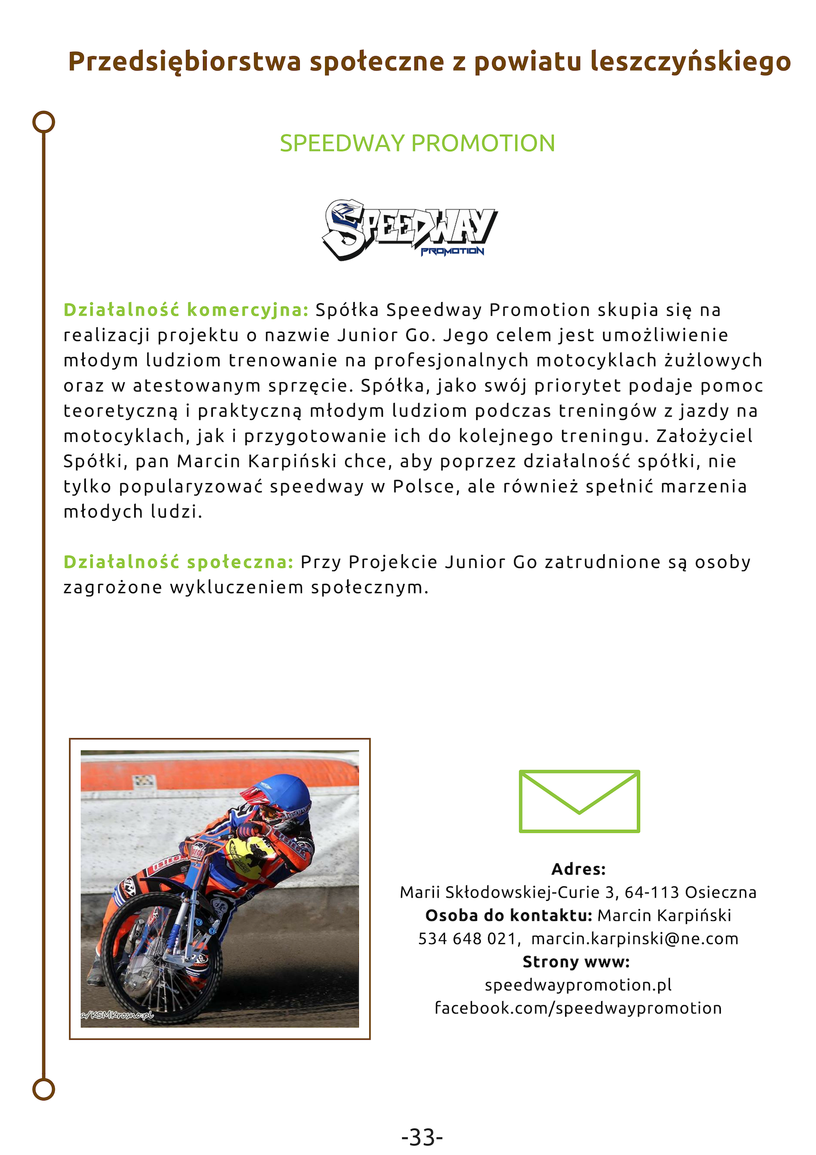 Speedway promotion logo